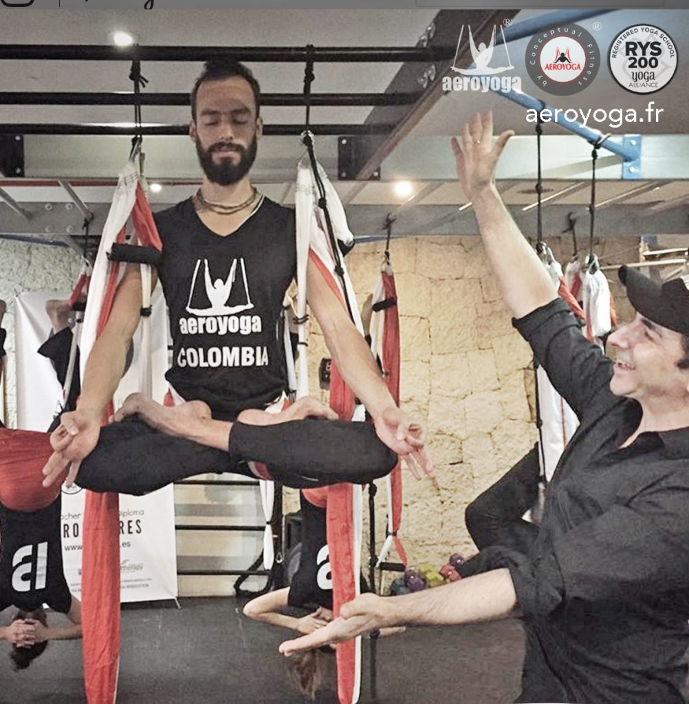 stage aero yoga dans l'air hamac