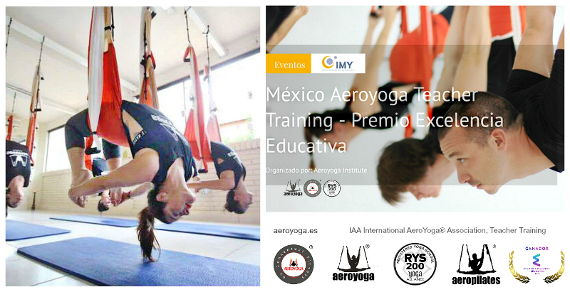 FORMACION AEROYOGA® INTERNATIONAL , MEXICO, DIPLOMA CERTIFICADO YOGA ALLIANCE