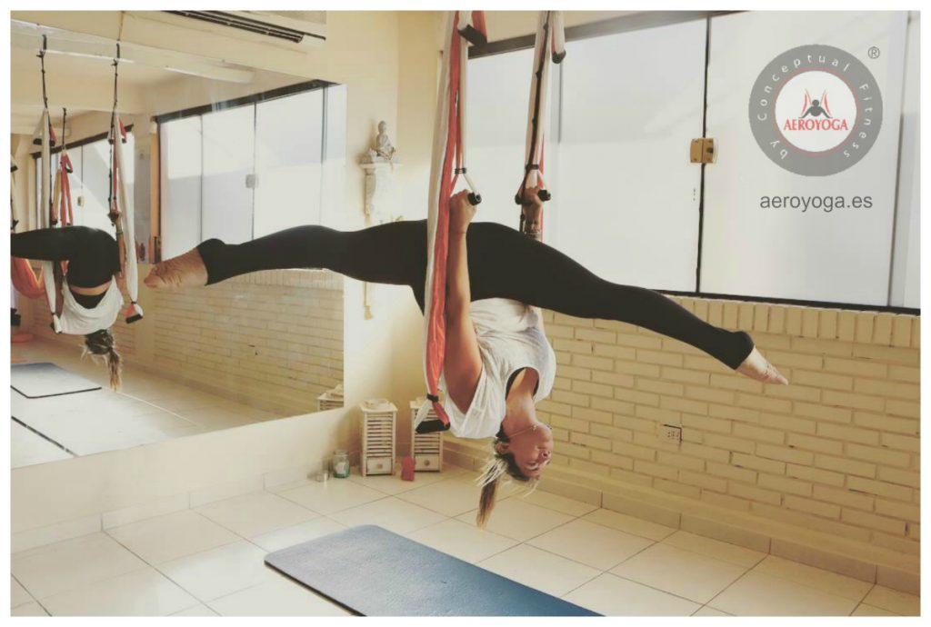 aerial yoga, columpio, yoga, pilates, fitness, ejercicio, bienestar, swing, trapeze, gravity, fly , flying,